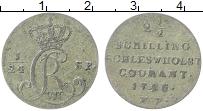 Изображение Монеты Шлезвиг-Гольштейн 2 1/2 шиллинга 1786 Серебро XF К.Р
