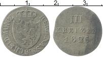 Изображение Монеты Нассау 3 крейцера 1826 Серебро XF L Герб