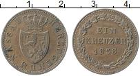 Изображение Монеты Нассау 1 крейцер 1838 Медь XF Герб