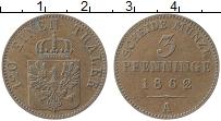 Изображение Монеты Пруссия 3 пфеннига 1862 Медь XF А