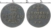 Изображение Монеты Польша 1/2 гроша 1780 Серебро XF ЕВ