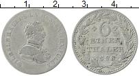 Изображение Монеты Гессен 1/6 талера 1828 Серебро XF Вильгельм II