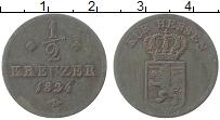 Изображение Монеты Гессен 1/2 крейцера 1834 Медь XF