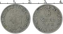 Изображение Монеты Гессен 6 крейцеров 1827 Серебро VF