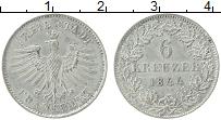 Изображение Монеты Франкфурт 6 крейцеров 1844 Серебро XF Герб