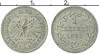 Изображение Монеты Франкфурт 1 крейцер 1859 Серебро XF Герб