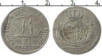 Изображение Монеты Вюртемберг 6 крейцеров 1809 Серебро XF Герб