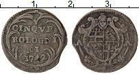 Изображение Монеты Болонья 5 болоньино 1742 Серебро VF Болонья