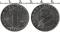 Изображение Монеты Ватикан 100 лир 1961 Железо UNC-