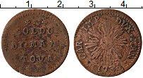 Изображение Монеты Мантуя 2 сольди 1730 Медь VF Солнце