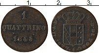 Изображение Монеты Тоскана 1 кватрино 1845 Медь XF Герб
