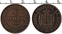 Изображение Монеты Тоскана 5 чентезимо 1859 Медь XF Герб