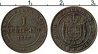 Изображение Монеты Тоскана 1 чентезимо 1859 Медь XF Герб