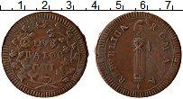 Изображение Монеты Италия 2 байоччи 1799 Медь XF