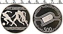 Изображение Монеты Венгрия 500 форинтов 1981 Серебро Proof- Футбол