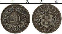 Изображение Монеты Швейцария 20 рапп 1850 Серебро XF Герб