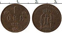 Изображение Монеты Швеция 1 эре 1875 Медь XF Оскар II
