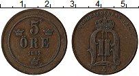 Изображение Монеты Швеция 5 эре 1882 Медь XF Оскар II
