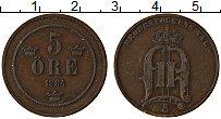 Изображение Монеты Швеция 5 эре 1884 Медь XF