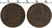 Изображение Монеты Норвегия 5 эре 1876 Медь XF Оскар II