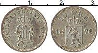 Изображение Монеты Норвегия 10 эре 1876 Серебро XF Оскар II