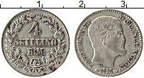 Изображение Монеты Дания 4 скиллинга 1856 Серебро XF Фредерик VII