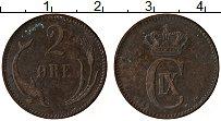 Изображение Монеты Дания 2 эре 1889 Медь XF Кристиан IX