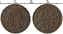 Изображение Монеты Испания 2 мараведи 1829 Медь XF Фердинанд VII
