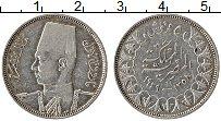Изображение Монеты Египет 5 пиастров 1939 Серебро XF Фарук I