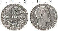 Изображение Монеты Дания 16 скиллингов 1857 Серебро XF Фредерик VII