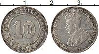 Изображение Монеты Стрейтс-Сеттльмент 10 центов 1918 Серебро XF Георг V