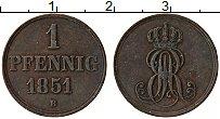 Изображение Монеты Ганновер 1 пфенниг 1851 Медь XF