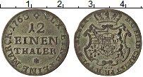 Изображение Монеты Саксония 1/12 талера 1763 Серебро VF Герб