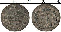 Изображение Монеты Саксен-Хильдбургхаузен 6 крейцеров 1821 Серебро VF Везель