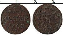 Изображение Монеты Саксен-Хильдбургхаузен 1 хеллер 1763 Медь VF Вензель