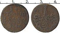 Изображение Монеты Саксе-Кобург-Гота 1 1/2 пфеннига 1744 Медь VF Герб