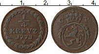Изображение Монеты Пфальц-Сульбах 1/4 крейцера 1773 Медь XF Герб СР