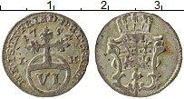 Изображение Монеты Саксен-Веймар-Эйзенах 6 пфеннигов 1755 Серебро VF Герб