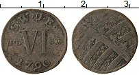 Изображение Монеты Саксен-Веймар-Эйзенах 6 пфеннигов 1790 Серебро VF Герб