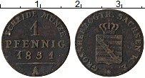 Изображение Монеты Саксен-Веймар-Эйзенах 1 пфенниг 1851 Медь XF