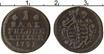 Изображение Монеты Саксе-Кобург-Саалфельд 1 хеллер 1751 Медь VF Герб