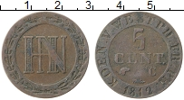 Изображение Монеты Вестфалия 5 сентим 1812 Медь XF