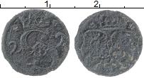 Изображение Монеты Польша Речь Посполита 3 гроша 1581 Медь VF-