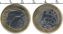 Изображение Монеты Бразилия 1 реал 2014 Биметалл UNC Олимпийские игры в Р