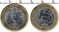 Изображение Монеты Бразилия 1 реал 2014 Биметалл UNC