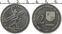 Изображение Монеты Андорра 2 динерса 1987 Медно-никель UNC-
