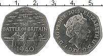 Изображение Мелочь Великобритания 50 пенсов 2015 Медно-никель UNC- Битва за Британию.Ел