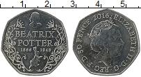Изображение Монеты Великобритания 50 пенсов 2016 Медно-никель UNC- Елизавета II. 150 ле