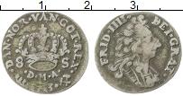 Изображение Монеты Норвегия 8 скиллингов 1713 Серебро XF- Фредерик IV