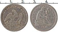 Изображение Монеты США 1/4 доллара 1856 Серебро XF